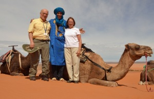 Bob and Maria in Morocco